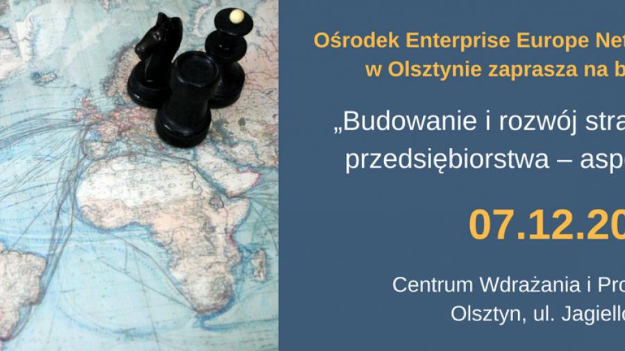 Szkolenie dla przedsiębiorców - ?Budowanie i rozwój strategii eksportowej przedsiębiorstwa ? aspekty praktyczne